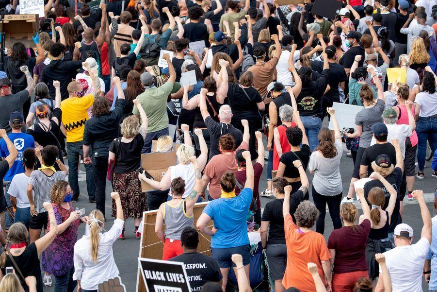 Manifestation à Minneapolis, aux Etats-Unis, le 26 mai 2020.
