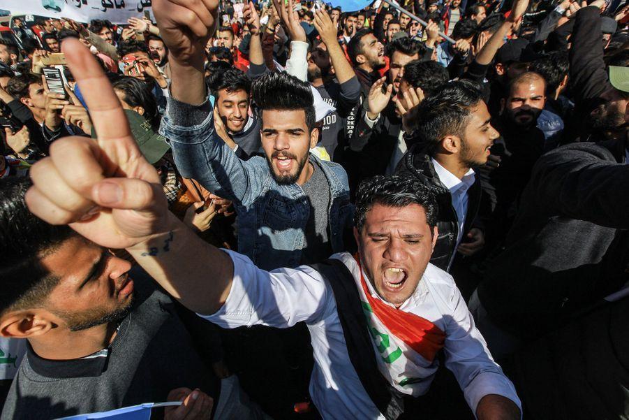 Manifestation à Bagdad, en Irak, le 2 février 2020.