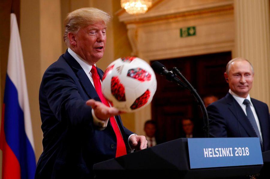 Donald Trump à Helsinki, le 16 juillet 2018.