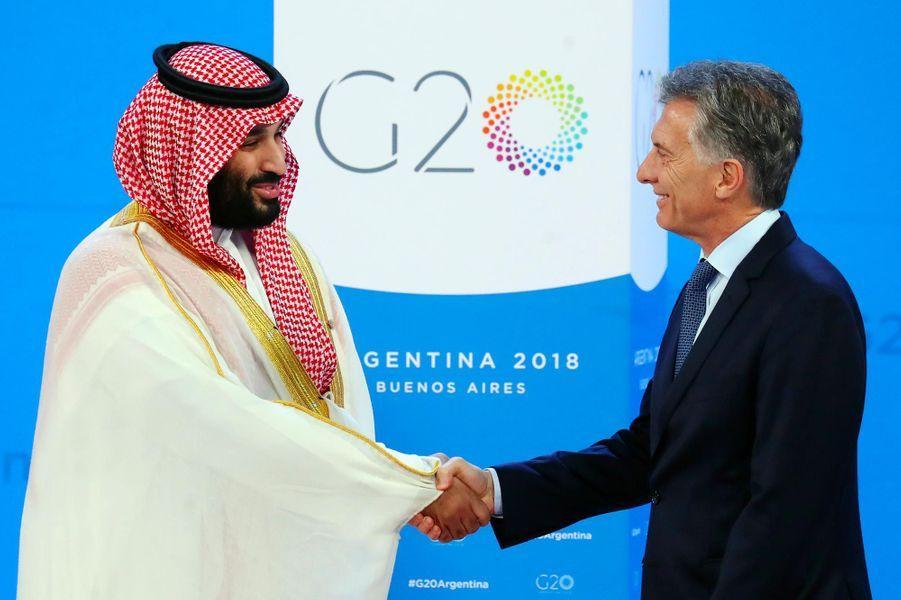 Mohammed ben Salmane et Maurizio Macri au G20, à Buenos Aires, le 30 novembre 2018.