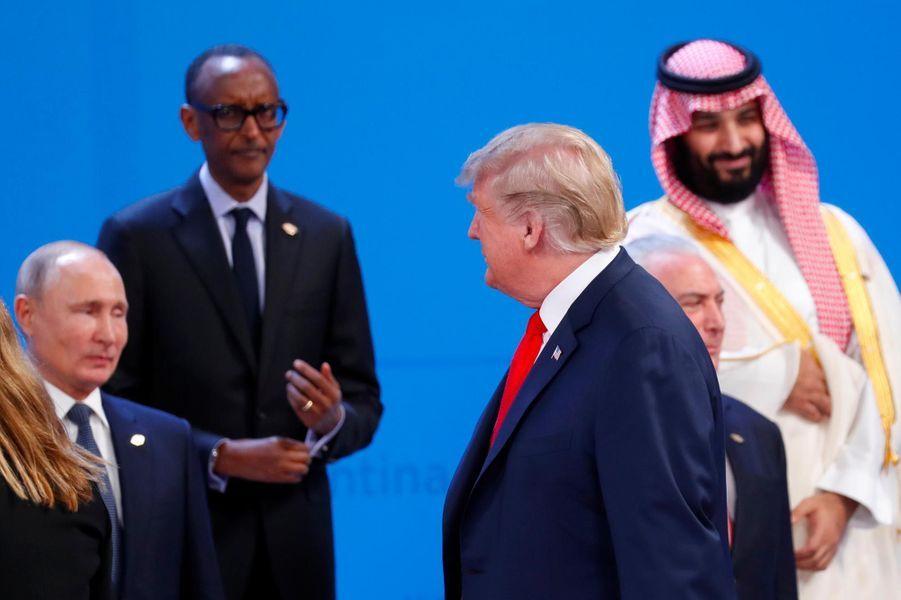 Donald Trump, Vladimir Poutine et Mohammed ben Salmane au G20, à Buenos Aires, le 30 novembre 2018.