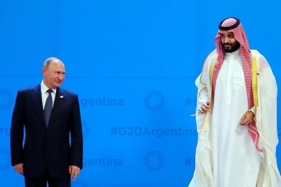 Vladimir Poutine et Mohammed ben Salmane au G20, à Buenos Aires, le 30 novembre 2018.