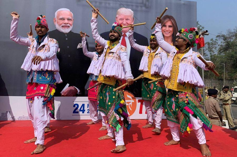 Donald et Melania Trump sont arrivés en Inde, le 24 février 2020.
