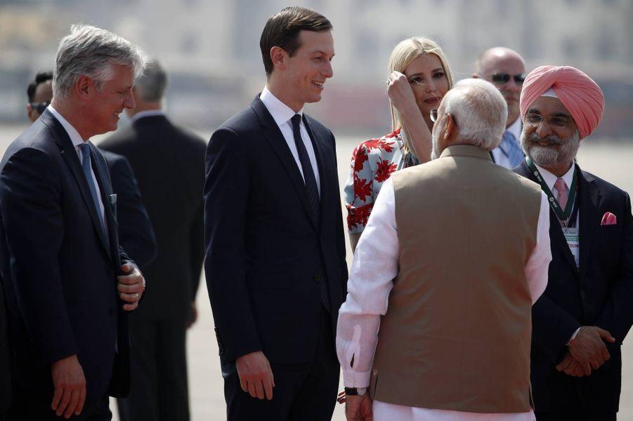 Jared Kushner accompagne la visite de son beau-père en Inde, le 24 février 2020.