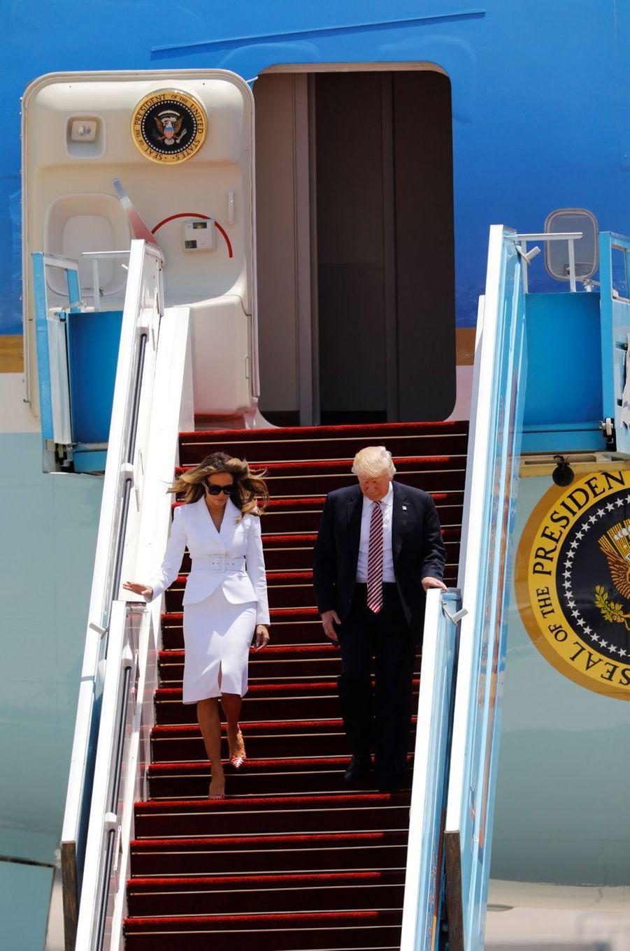 Melania et Donald Trump à l'aéroport Ben Gourion, le 22 mai 2017.