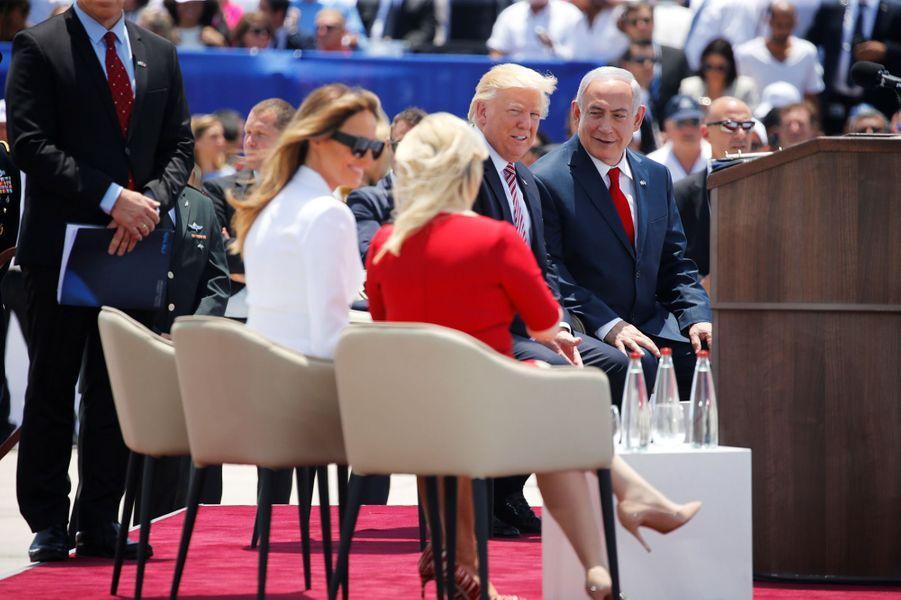 MelaniaTrump à l'aéroport Ben Gourion, le 22 mai 2017.