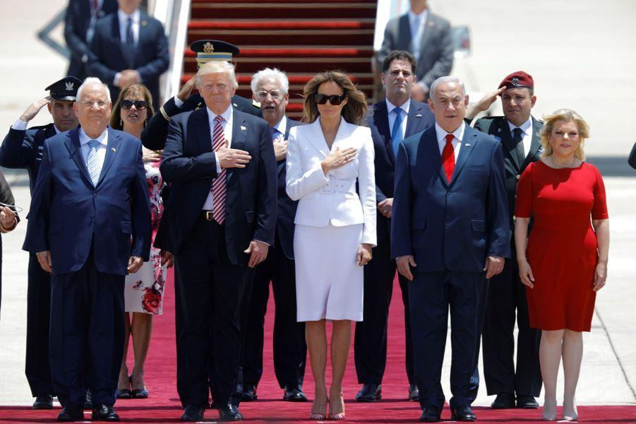 Donald Trump à l'aéroport Ben Gourion, le 22 mai 2017.