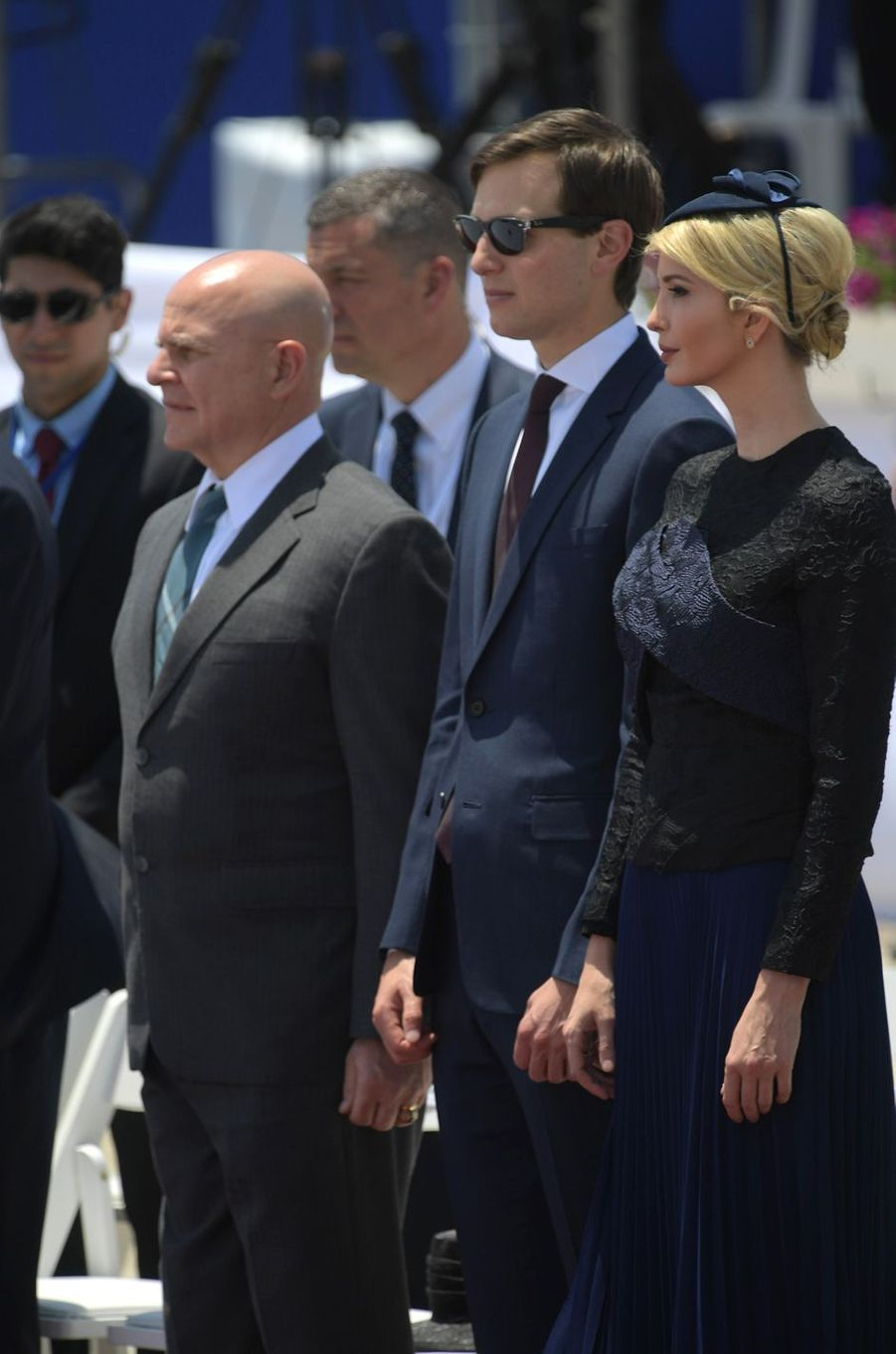 Jared Kushner et Ivanka Trumpà l'aéroport Ben Gourion, le 22 mai 2017.