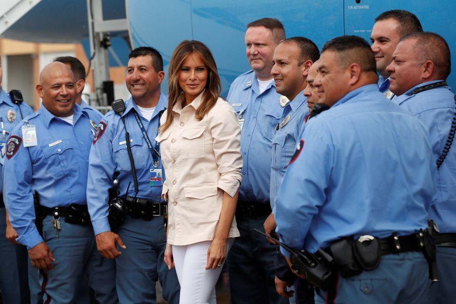 Melania Trump à la frontière mexicaine pour visiter des centres d'accueil de migrants et rendre visite à des gardes-frontières.