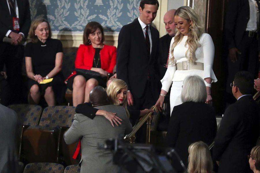 Ivanka Trump, Jared Kushner et Tiffany Trumpau Capitole pour le discours sur l'état de l'union, le 5 février 2019.