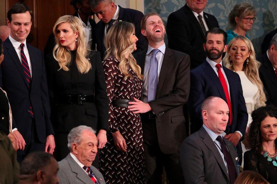 Jared Kusher, Ivanka, Lara, Eric, Donald Jr et Tiffany Trumpau Capitole pour le discours sur l'état de l'union, le 5 février 2019.