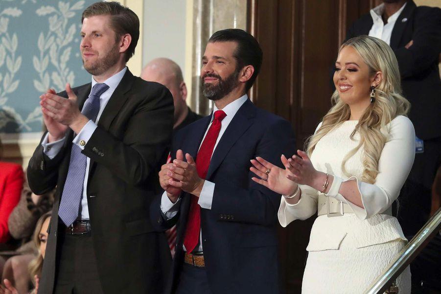 Eric, Donald Jr et Tiffany Trumpau Capitole pour le discours sur l'état de l'union, le 5 février 2019.