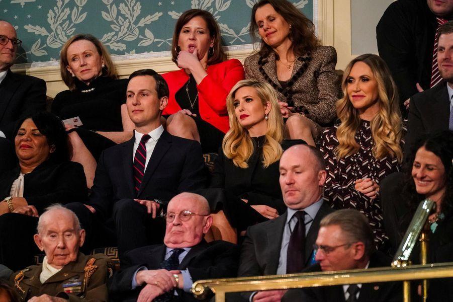 Jared Kushner, Ivanka et Lara Trumpau Capitole pour le discours sur l'état de l'union, le 5 février 2019.