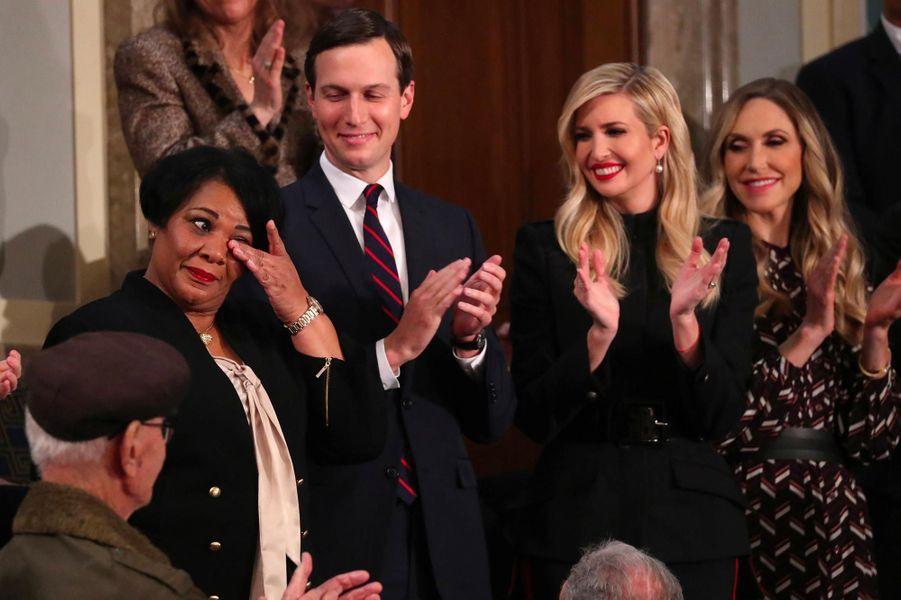 Alice Johnson, Jared Kushner, Ivanka et Lara Trumpau Capitole pour le discours sur l'état de l'union, le 5 février 2019.