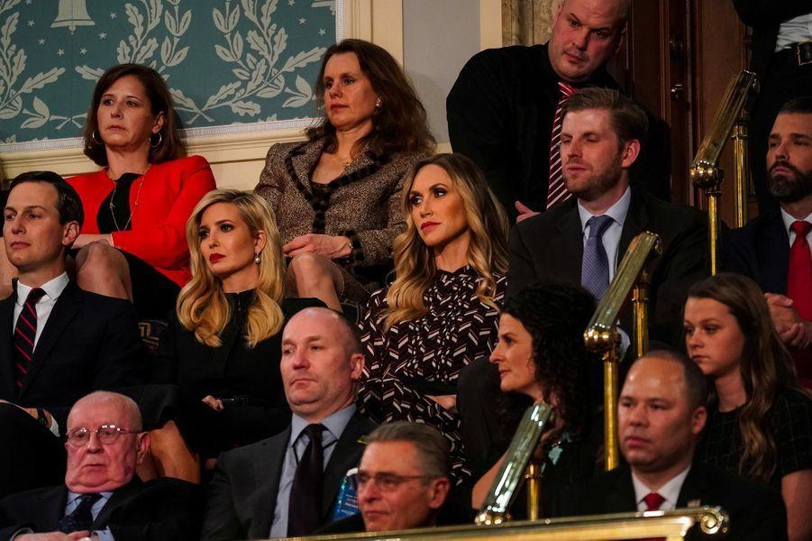 Jared Kushner, Ivanka Trump, Lara et Eric Trump au Capitole pour le discours sur l'état de l'union, le 5 février 2019.
