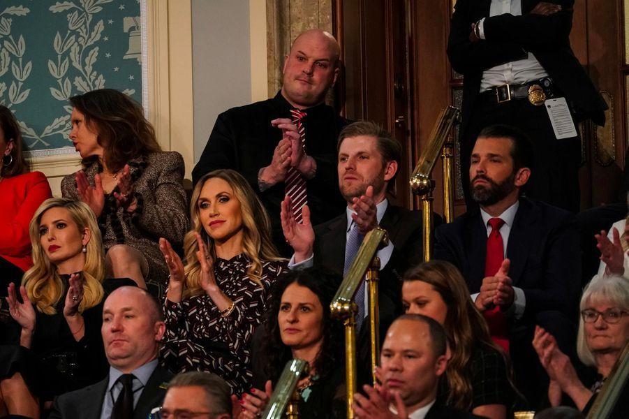Ivanka, Lara, Eric et Donald Trumpau Capitole pour le discours sur l'état de l'union, le 5 février 2019.