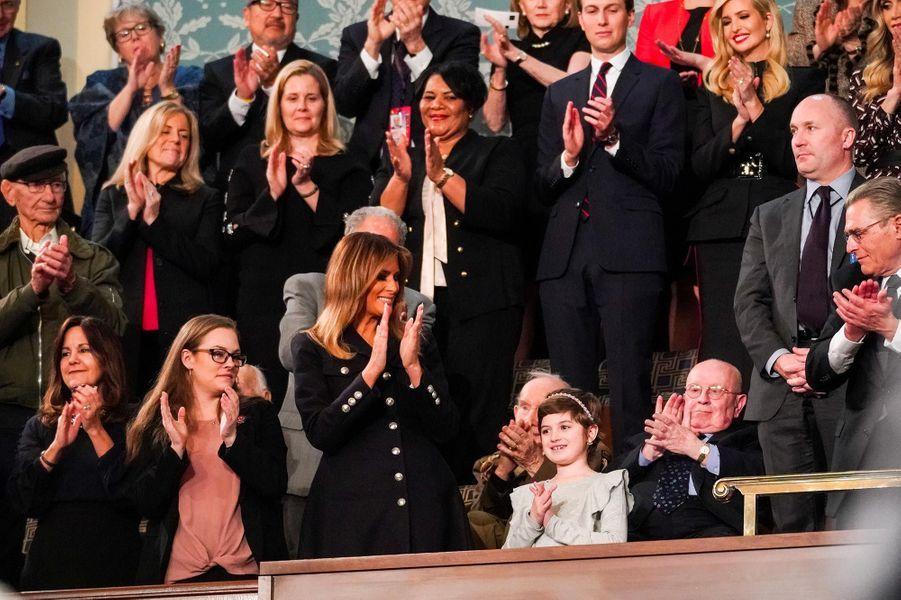 Melania Trumpau Capitole pour le discours sur l'état de l'union, le 5 février 2019.