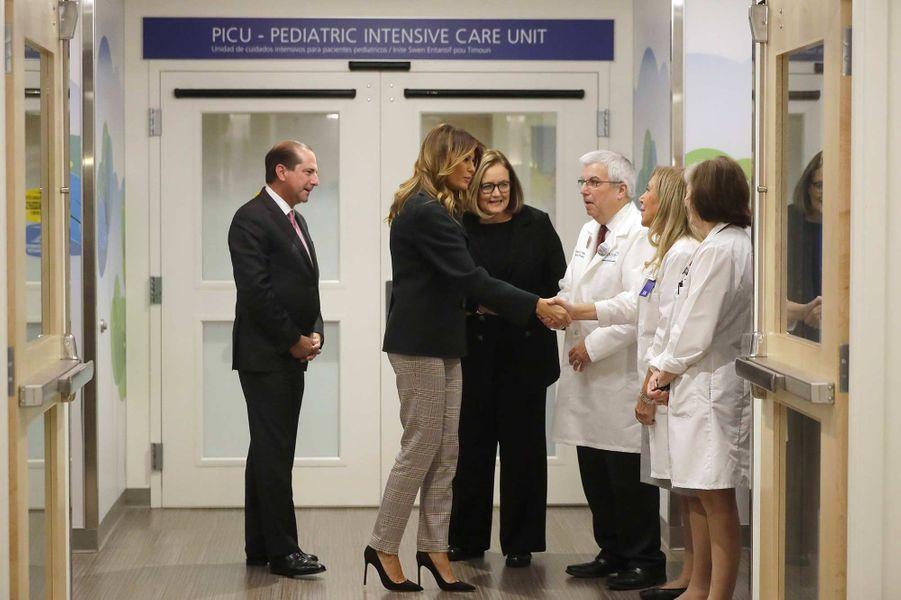 Melania Trump lors de sa visite du Boston Medical Center, le 6 novembre 2019.