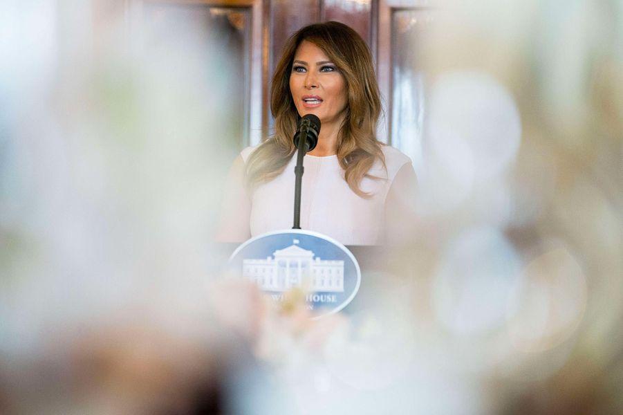 Melania Trump à la Maison-Blanche, le 26 février 2018.