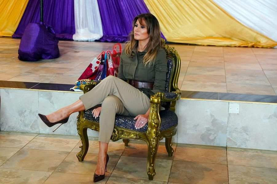 Melania Trump à l'ancien fort esclavagiste de Cape Coast, au Ghana, le 3 octobre 2018.