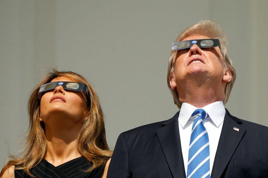 Melania et Donald Trump à la Maison Blanche, le 21 août 2017.