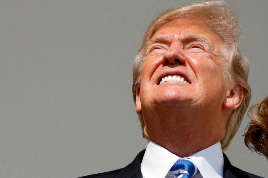 Donald Trump à la Maison Blanche, le 21 août 2017.