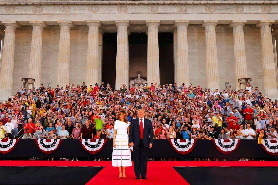 Donald et Melania Trump lors des célébrations de la fête d'indépendance des Etats-Unis, le 4 juillet 2019.
