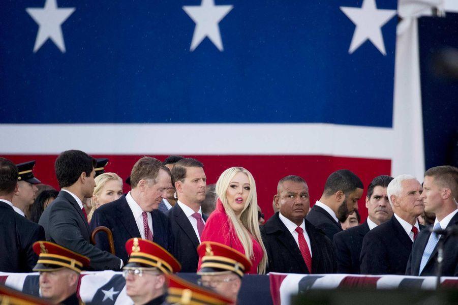 Melania Trump, Mike et Karen Pence et Tiffany Trump lors des célébrations de la fête d'indépendance des Etats-Unis, le 4 juillet 2019.