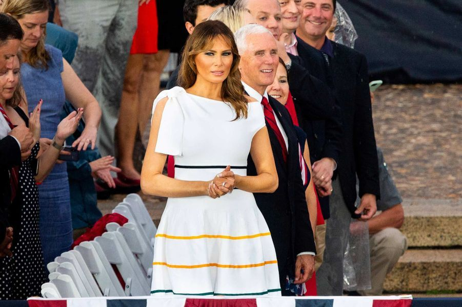 Melania Trump lors des célébrations de la fête d'indépendance des Etats-Unis, le 4 juillet 2019.