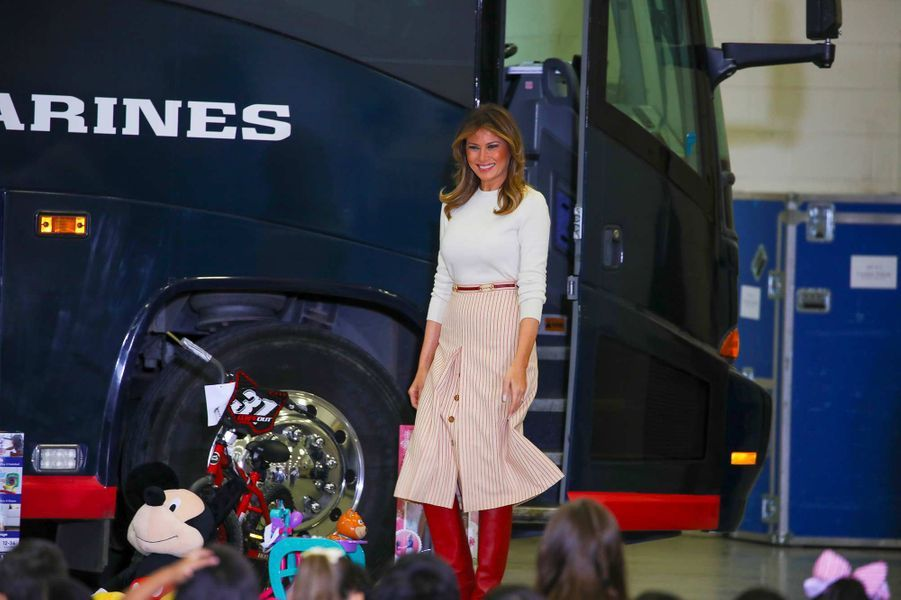 Melania Trump sur la base militaireAnacostia-Bolling de Washington, le 9 décembre 2019.