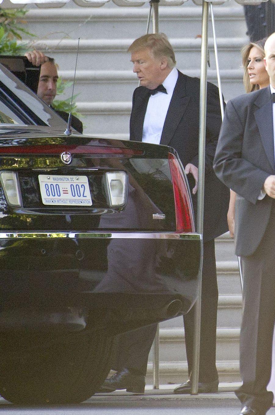 Donald Trump quittant la Maison Blanche, le 24 juin 2017.