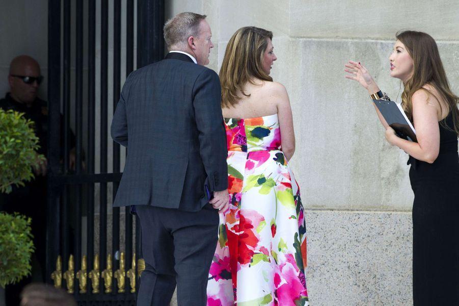 Sean Spicer arrivant au mariage de Steve Mnuchin et Louise Linton, le 24 juin 2017.