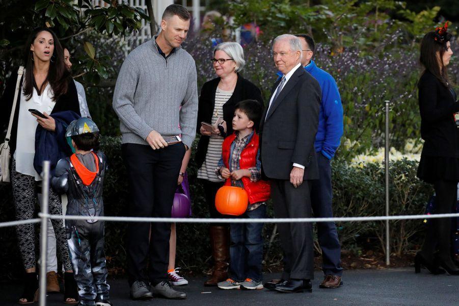 Jeff Sessions à la Maison Blanche pour Halloween, le 30 octobre 2017.