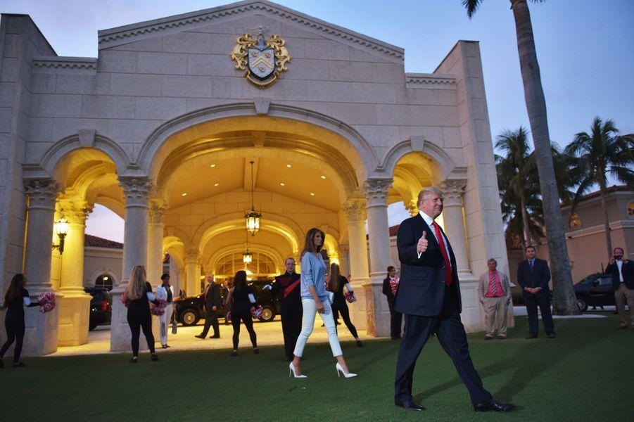Melania et Donald Trump à Palm Beach, en Floride, le 5 février 2017.