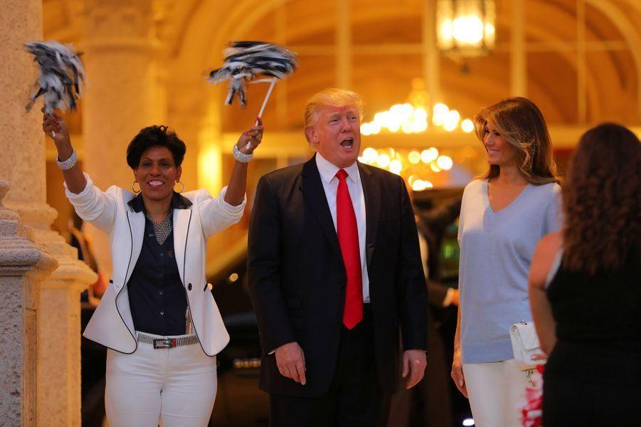 Donald et Melania Trump à Palm Beach, en Floride, le 5 février 2017.