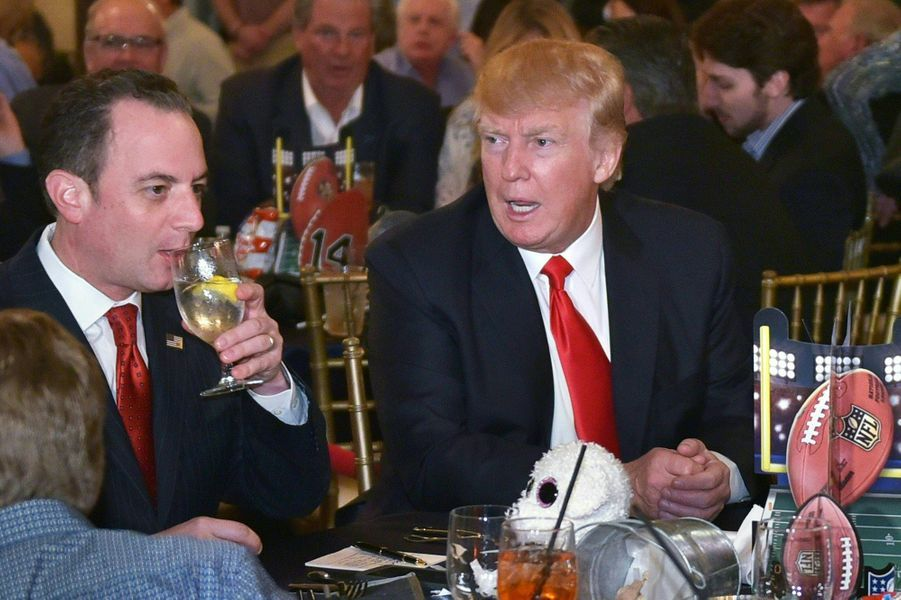 Reince Priebus etDonald Trump à Palm Beach, en Floride, le 5 février 2017.