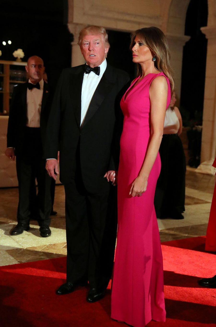 Donald Trump et Melania Trump à Mar-a-Lago, le 4 février 2017.
