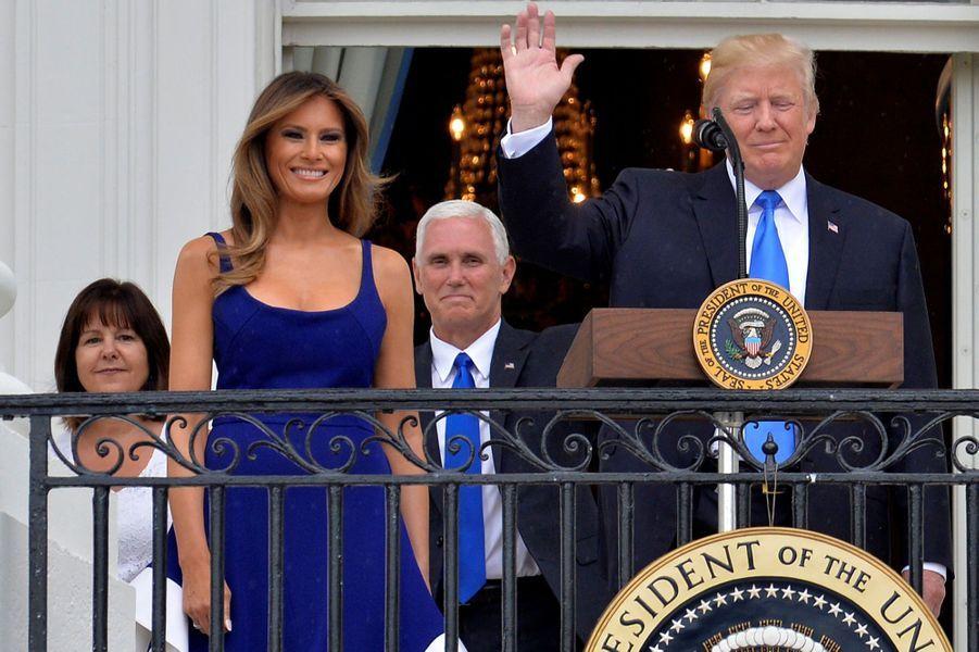 Melania et Donald Trump, le 4 juillet 2017.A voir : Après les célébrations du 4 juillet, Melania et Donald Trump s'envolent vers l'Europe