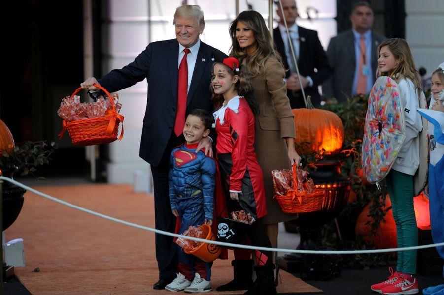 Melania et Donald Trump à la Maison Blanche, le 30 octobre 2017.A voir : Melania et Donald Trump ont fêté Halloween à la Maison Blanche