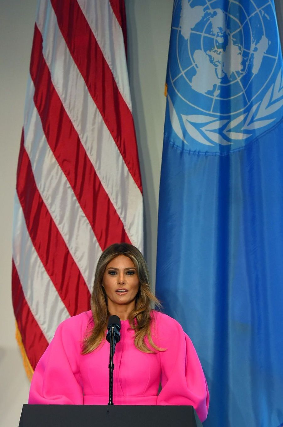 Melania Trump au cours de l'Assemblée générale des Nations unies, le 19 septembre 2017.A voir : Melania Trump, First Lady remarquée à l'ONU