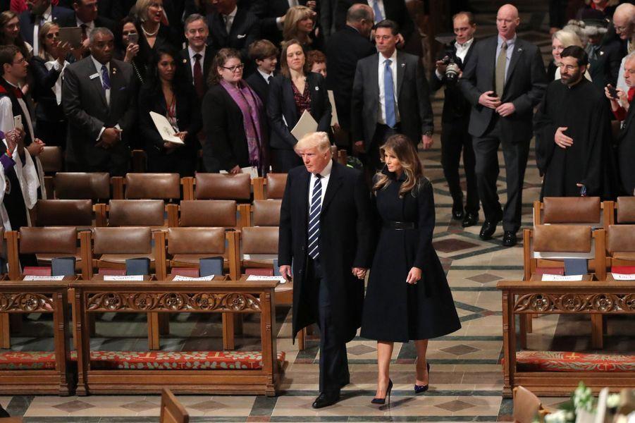 Donald Trump et Melania Trump à Washington, le 21 janvier 2017.