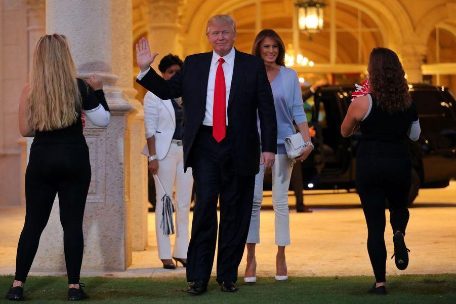 Donald Trump et Melania Trump à Mar-a-Lago, le 5 février 2017.