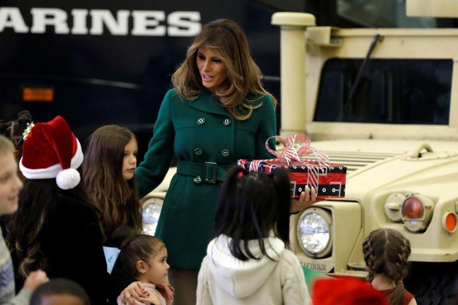 Melania Trump à Washington, le 13 décembre 2017.A voir : Melania Trump fête Noël en avance avec des enfants de militaires