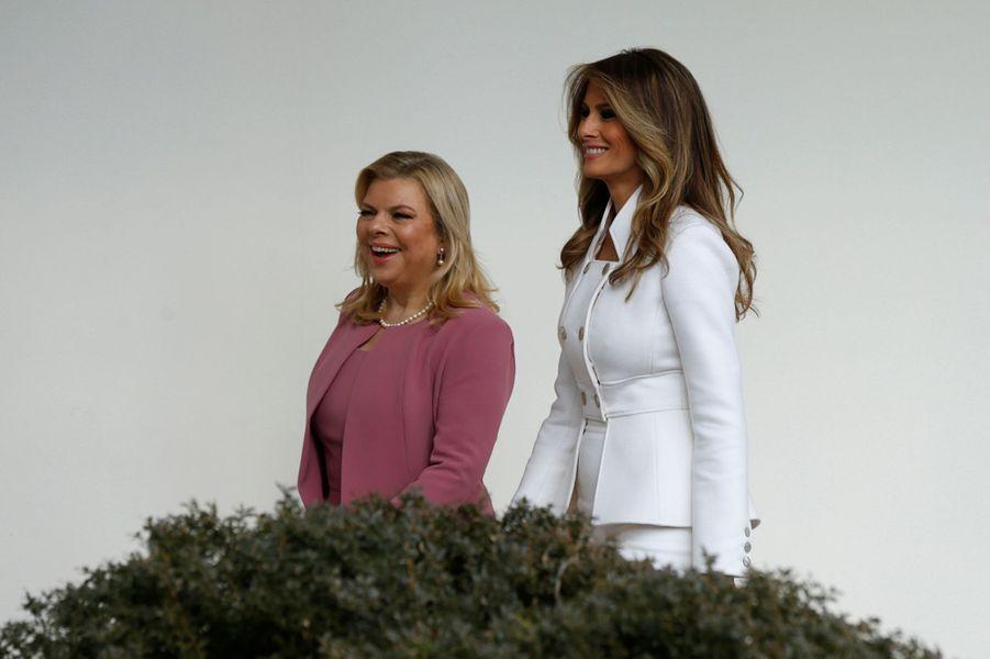 Melania Trump et Sara Netanyahou à la Maison Blanche, le 15 février 2017.