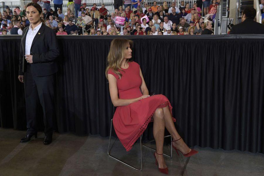 Melania Trump lors d'un meeting de son mari en Floride, le 18 février 2017.