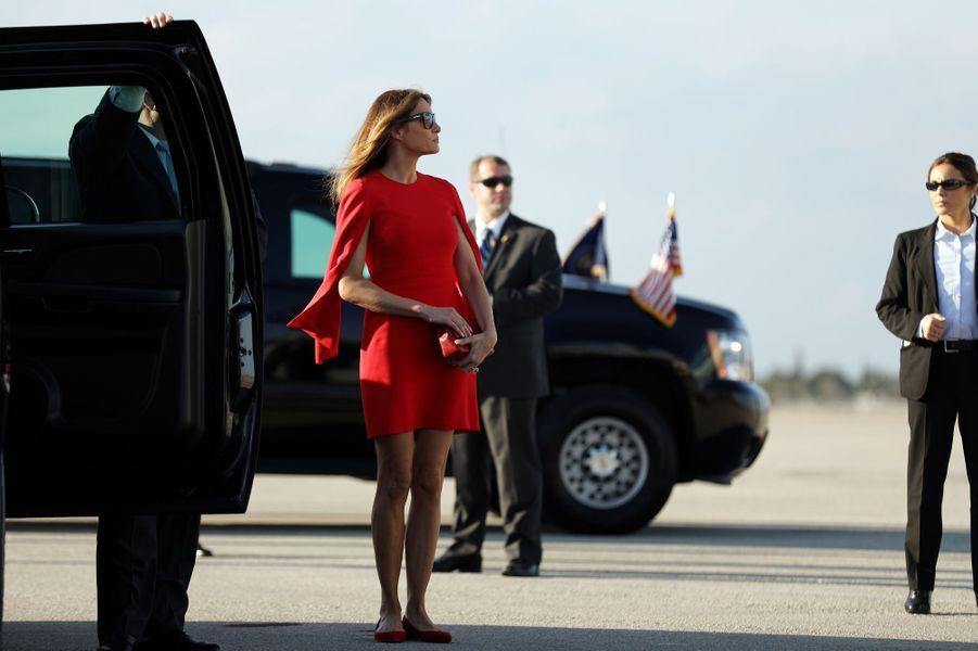 Melania Trump à l'aéroport de Palm Beach, le 3 février 2017.