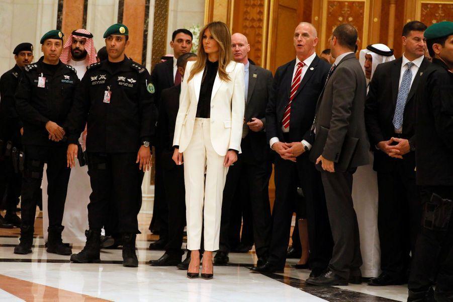 Melania Trump en Arabie Saoudite, le 21 mai 2017.A voir : En Arabie Saoudite, Melania Trump impose son style