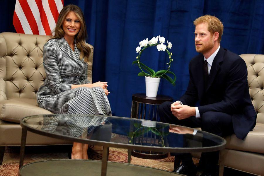 Melania Trump et le prince Harry à Toronto, le 23 septembre 2017.A voir : Melania Trump et le prince Harry, vedettes des Invictus Games à Toronto