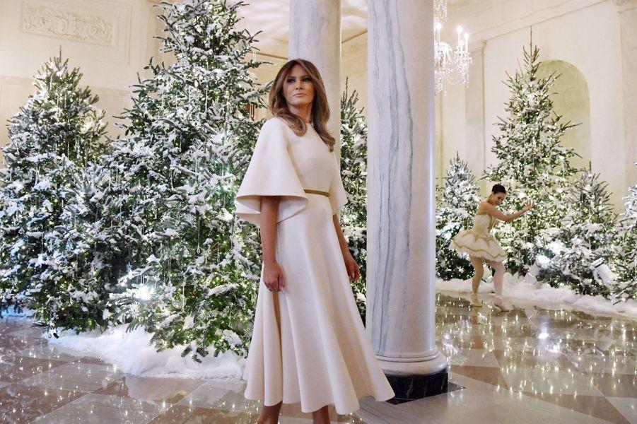 Melania Trump à la Maison Blanche, le 27 novembre 2017.A voir : Melania Trump prête pour son premier Noël à la Maison Blanche