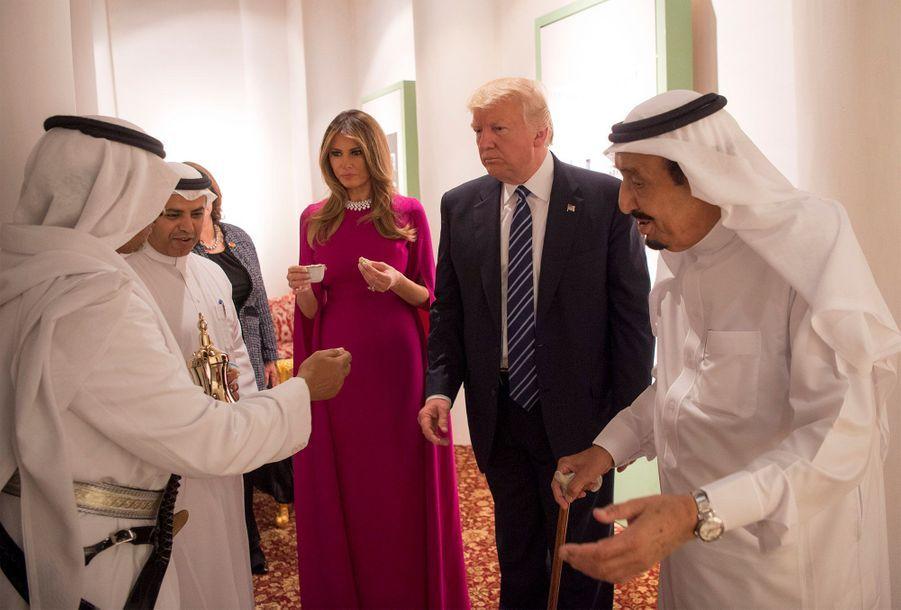 Melania Trump en Arabie Saoudite, le 20 mai 2017.